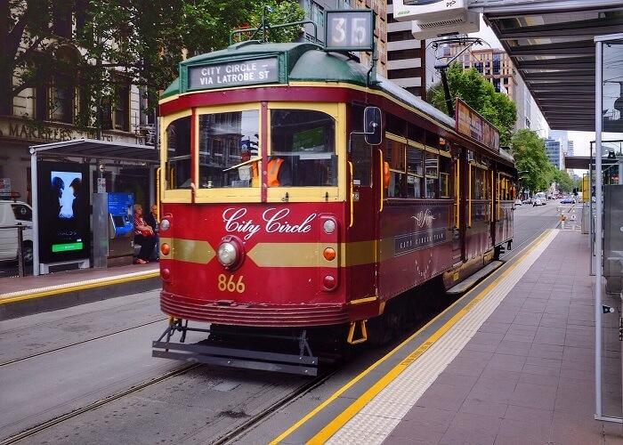 Xe điện miễn phí ở Melbourne